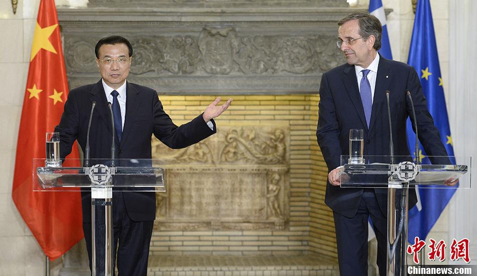 李克强与希腊总理萨马拉斯共同会见记者
