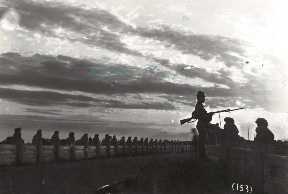 日军在卢沟桥警戒