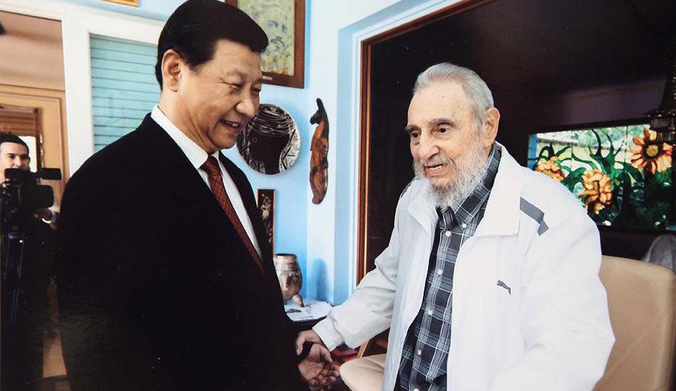 习近平探望古巴革命领袖菲德尔・卡斯特罗