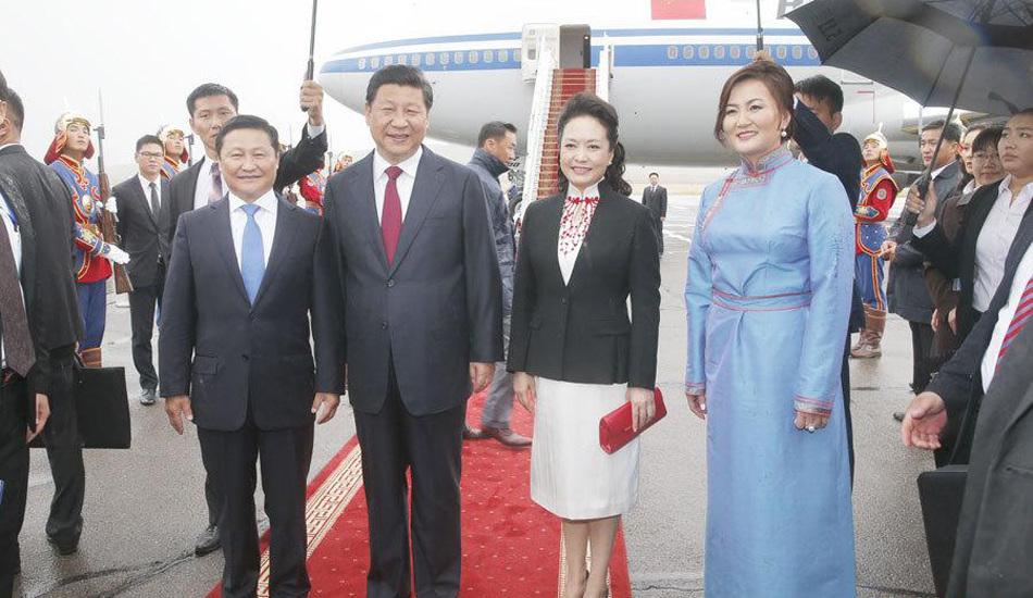 习近平抵达乌兰巴托开始对蒙古国进行国事访问