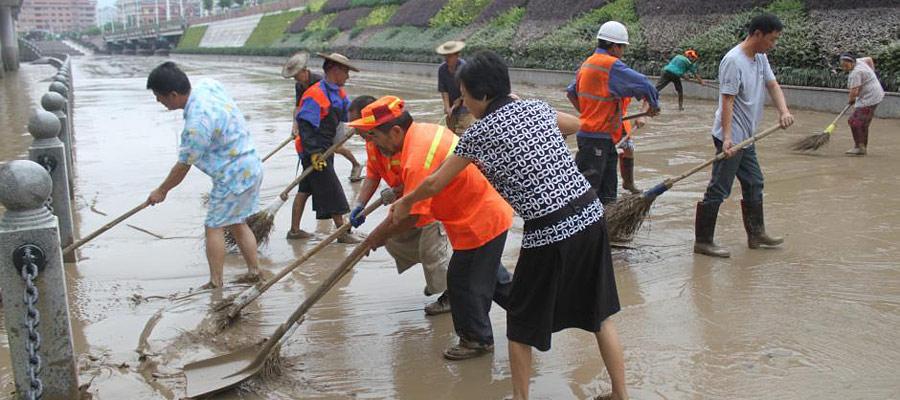 浙江瓯江流域遭遇50年一遇洪灾