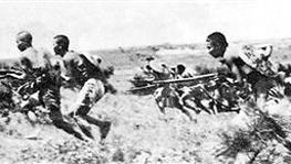游击队员在广州外围向日军发动猛烈攻击