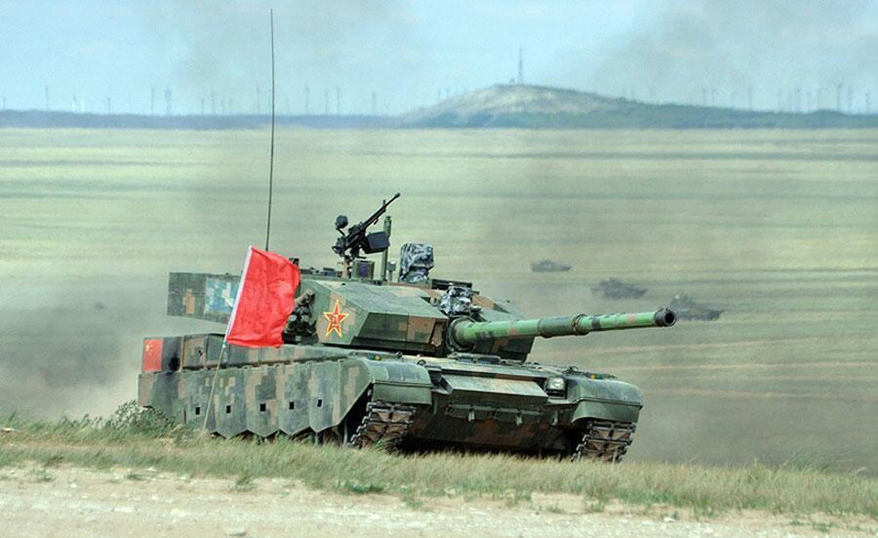 疑似中国最先进99改型坦克亮相上合军演