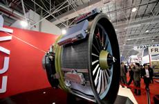 中国C919大飞机发动机亮相