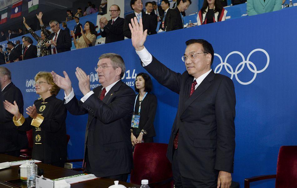 李克强出席南京青奥会闭幕式