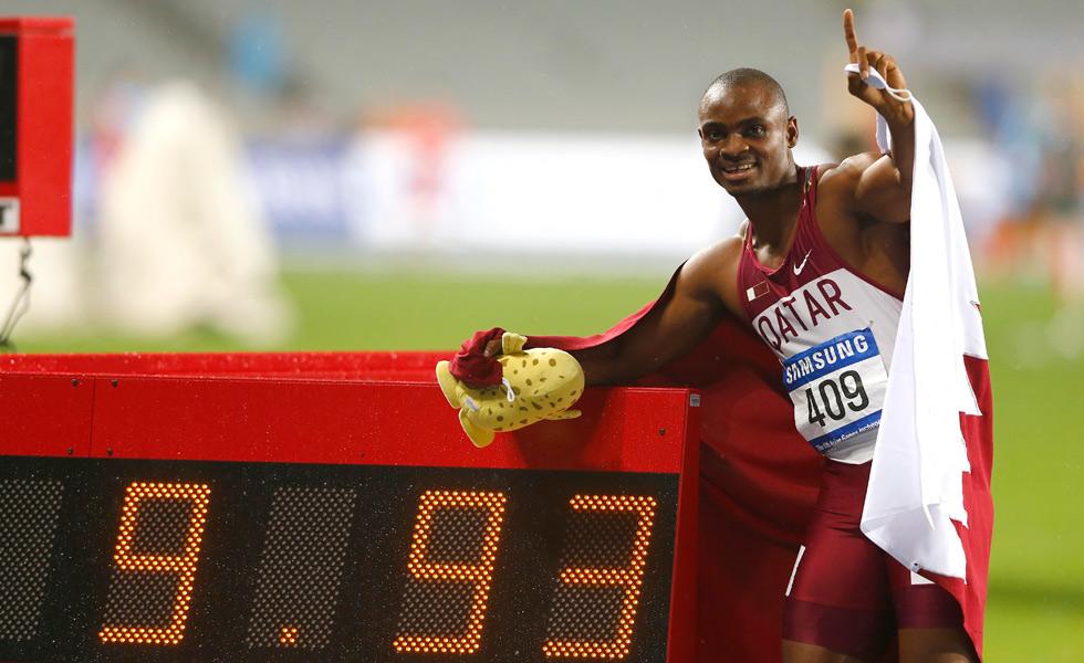 百米飞人大战 卡塔尔选手破亚洲纪录夺冠