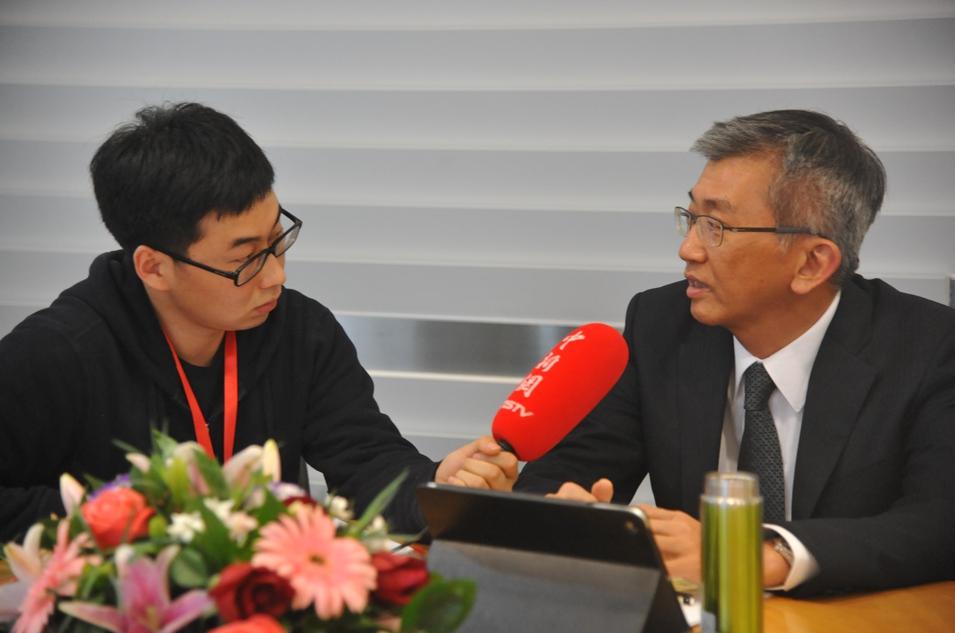 中新网专访李锦记健康产品集团高级副总裁杨国晋 谢舒娜摄