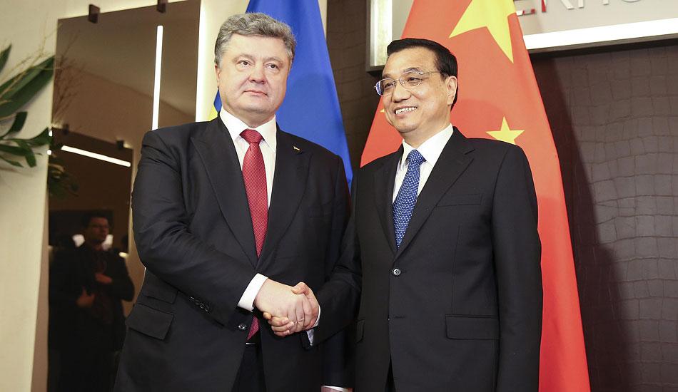 李克强会见乌克兰总统波罗申科