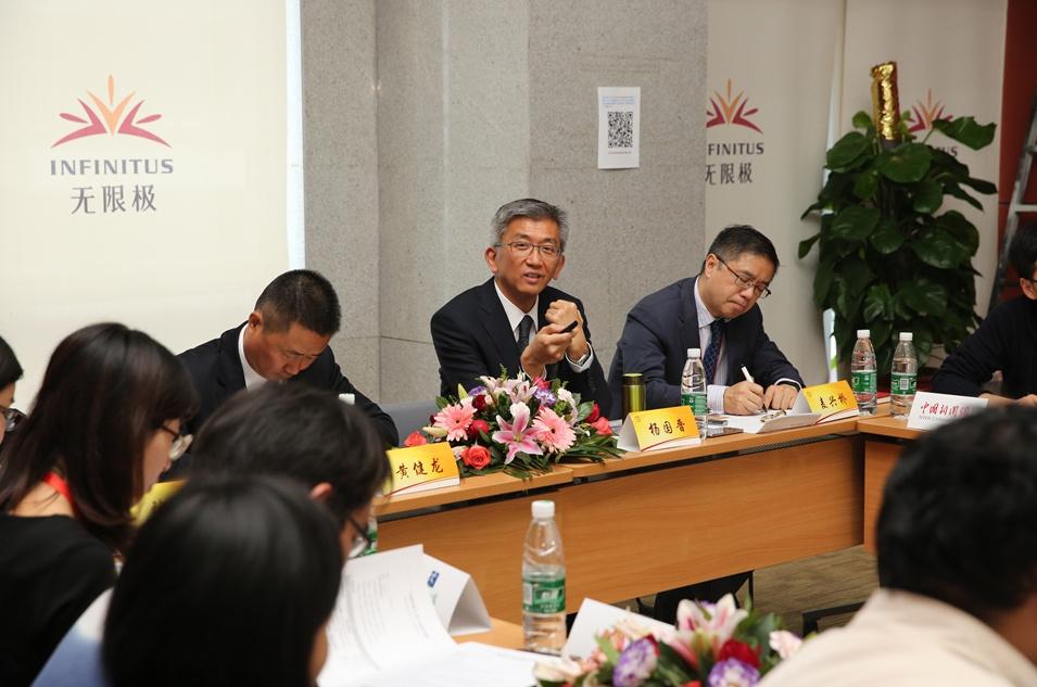 李锦记健康产品集团高级副总裁杨国晋与媒体团互动沟通