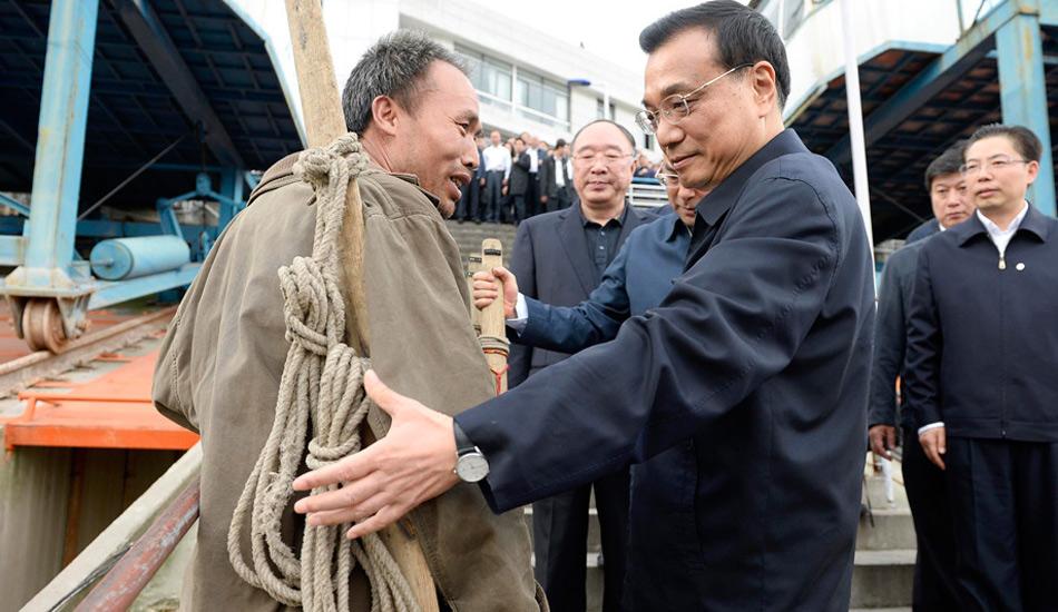 李克强在重庆万州考察-中新网