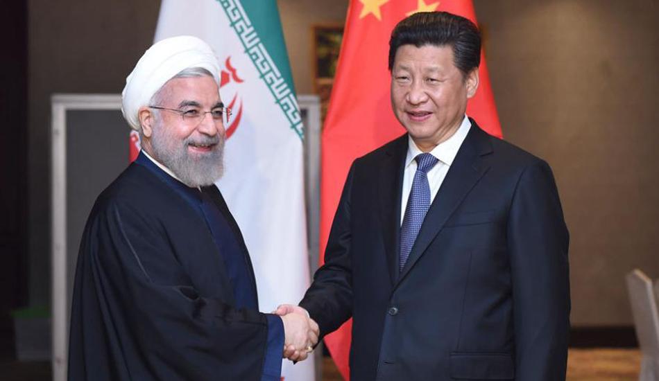 习近平会见伊朗总统鲁哈尼