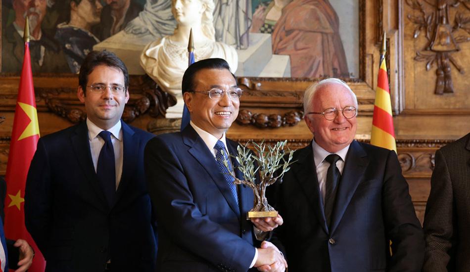 李克强访问马赛推动中法经贸、人文、 创新、地方交流合作