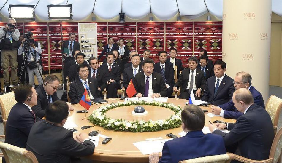 习近平出席中俄蒙三国元首第二次会晤