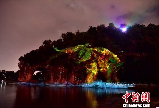 桂林象山景区大世界基尼斯纪录之一