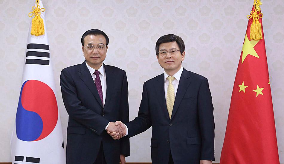 李克强会见韩国国务总理黄教安