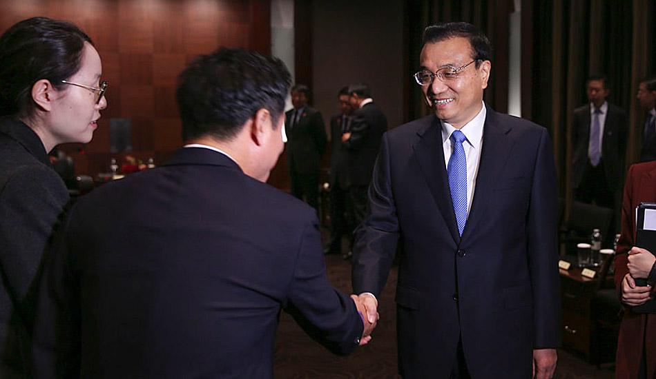 李克强晤韩国主要企业负责人