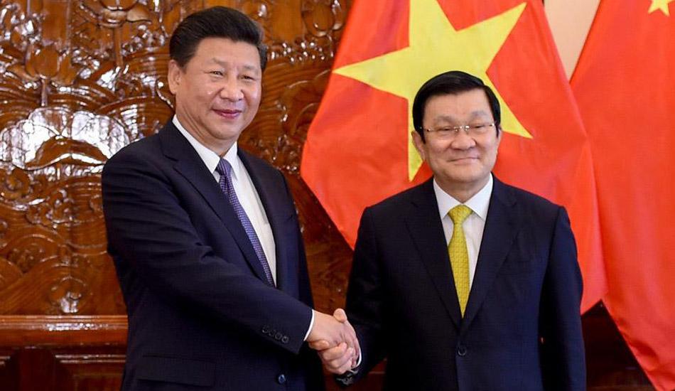 习近平同越南国家主席张晋创举行会谈