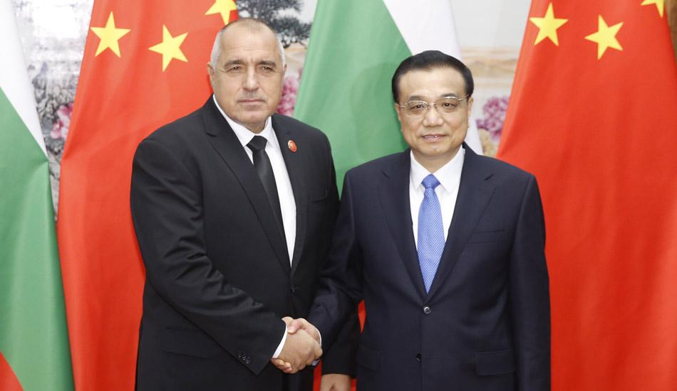 李克强在北京会见保加利亚总理博里索夫