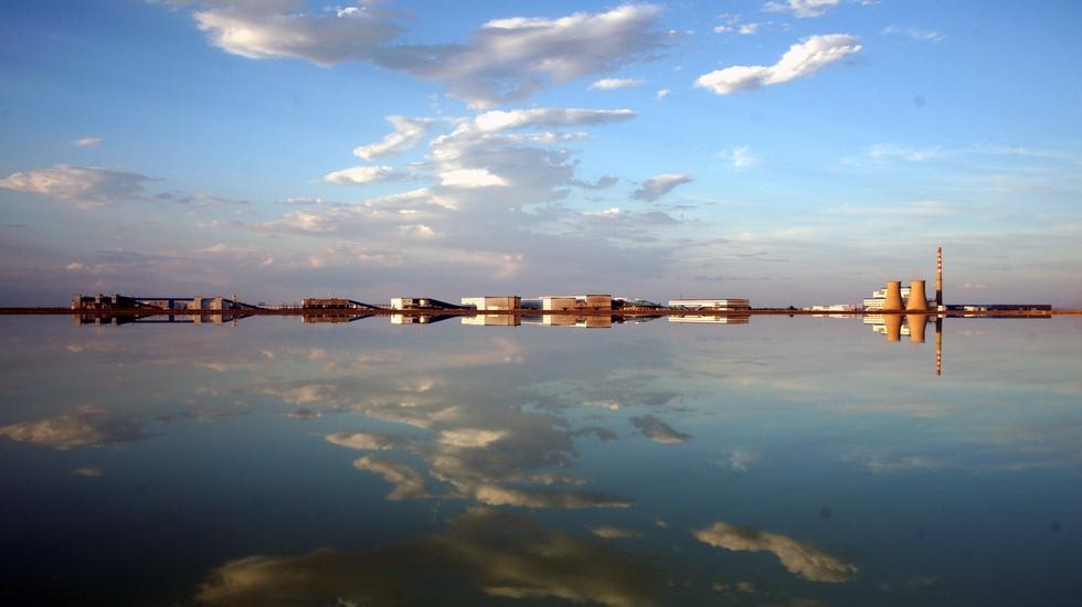 风景如画的国投罗钾厂区