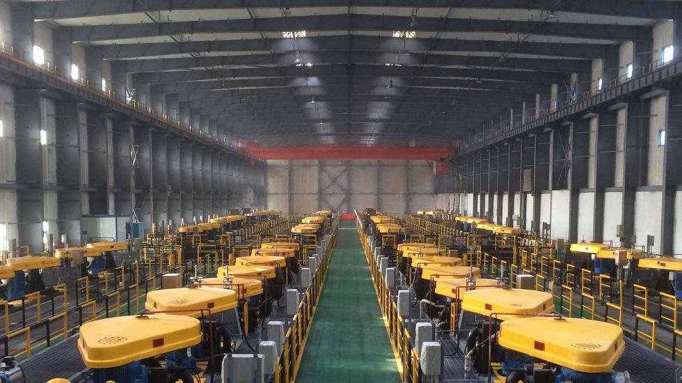 120万吨硫酸钾厂生产线的主厂房