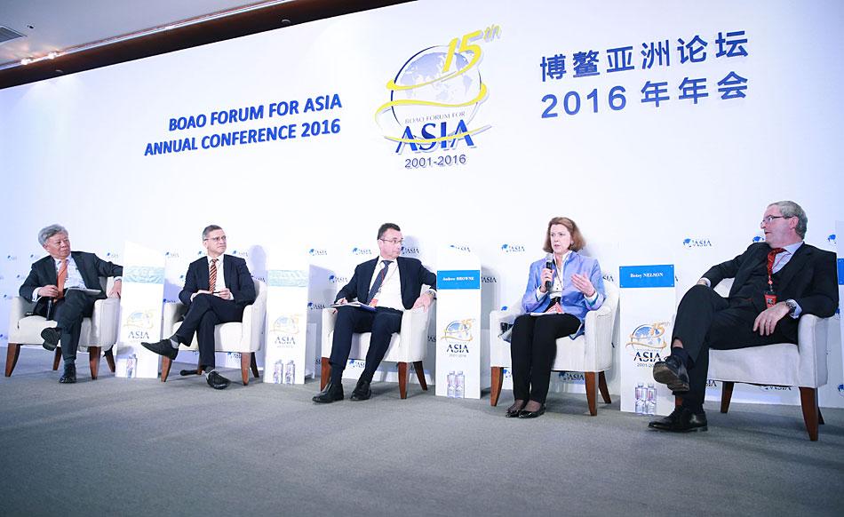"""博鳌亚洲论坛举行""""多边金融机构的对话""""主题午餐会"""