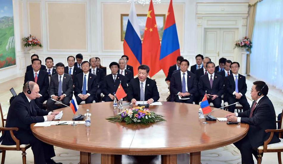 习近平主持中俄蒙三国元首第三次会晤