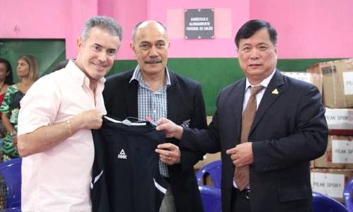 匹克体育董事长许景南在里约
