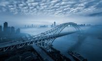 《朝天门长江大桥》 摄影:罗玉平