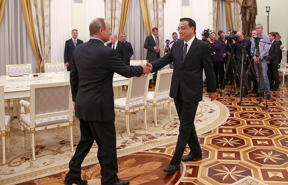 李克强会见俄罗斯总统普京