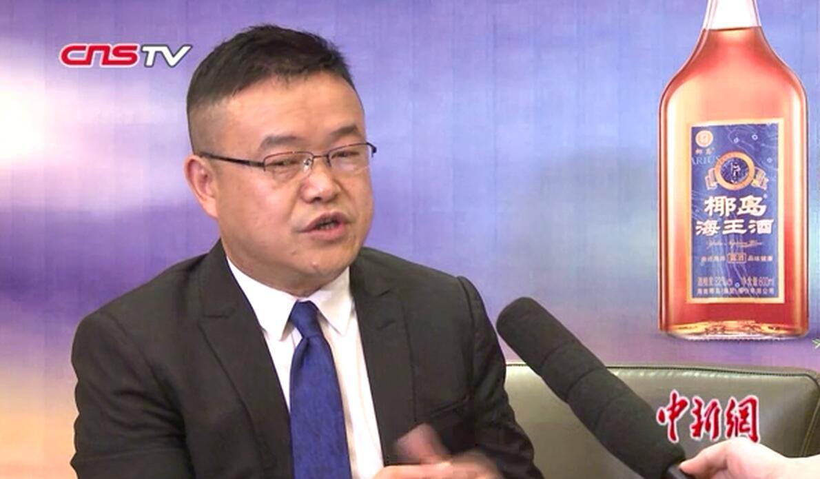 中新网专访海南椰岛集团董事长冯彪