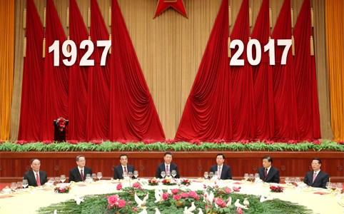 国防部举行招待会 庆祝中国人民解放军建军90周年