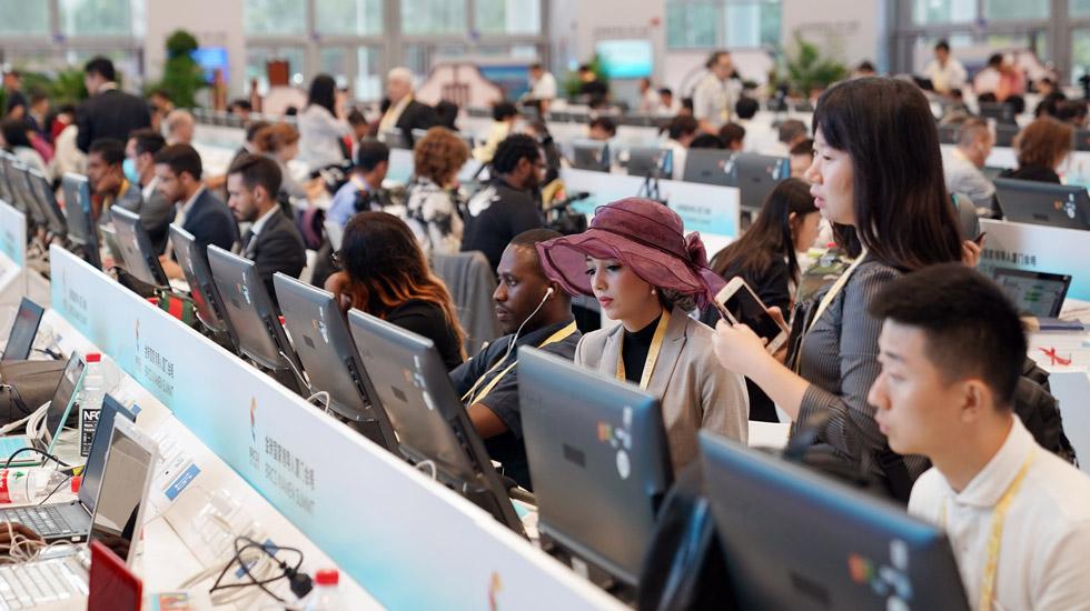 外国记者成金砖国家领导人厦门会晤新闻中心亮点