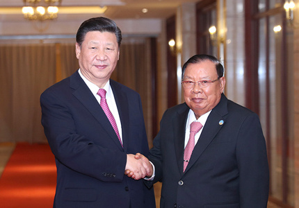习近平再次会见老挝国家主席本扬