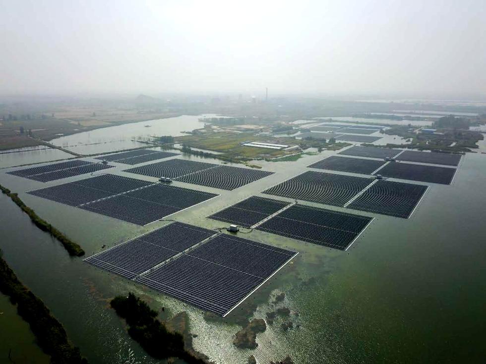 安徽濉溪40MW水上漂浮电站