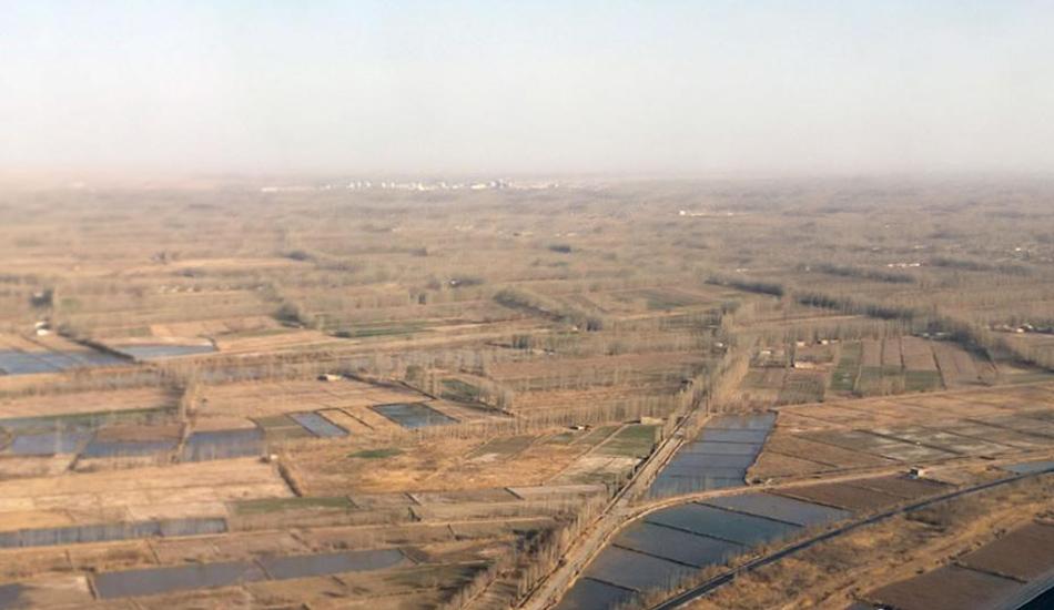 """新疆沙漠边城且末治沙20载在沙漠里""""圈金"""""""