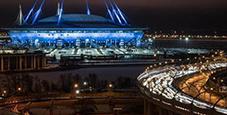 记者奔赴圣彼得堡体育场