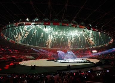 雅加达亚运会闭幕式举行
