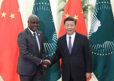 习近平会见非洲联盟委员会主席法基