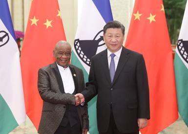 习近平会见莱索托首相塔巴内