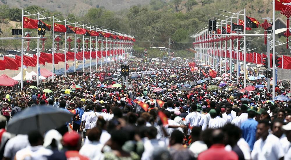 中国援建的独立大道移交启用仪式在莫尔兹比港举行