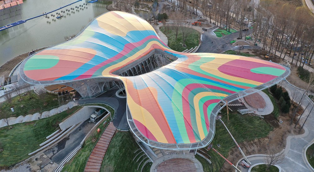 航拍2019北京世界园艺博览会场馆