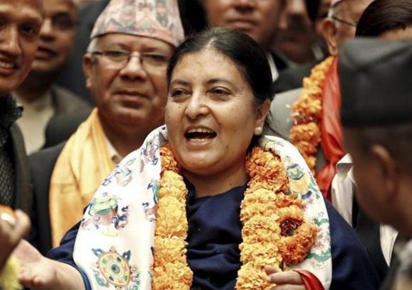 """尼泊尔总统:推动""""一带一路""""发展"""