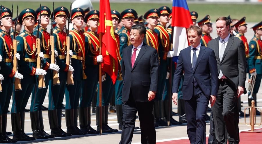 习近平抵达莫斯科开始对俄罗斯联邦进行国事访问