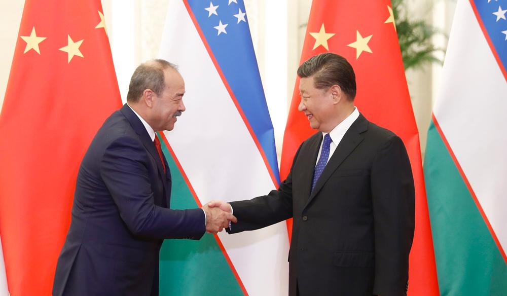 习近平会见乌兹别克斯坦总理阿里波夫