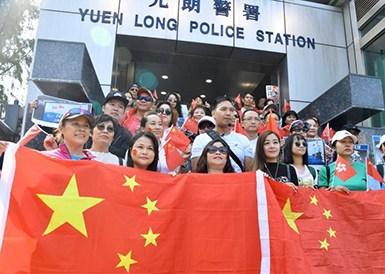 香港市民自发慰问警察传递温暖