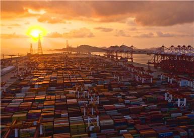 """上海洋山港码头自动化 效率创""""神话"""""""