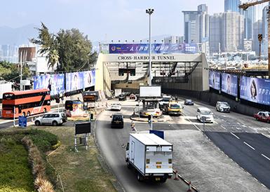 遭破坏的香港红磡海底隧道恢复通车
