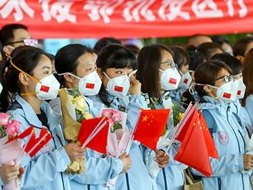 多批国家支援湖北医疗队撤离武汉