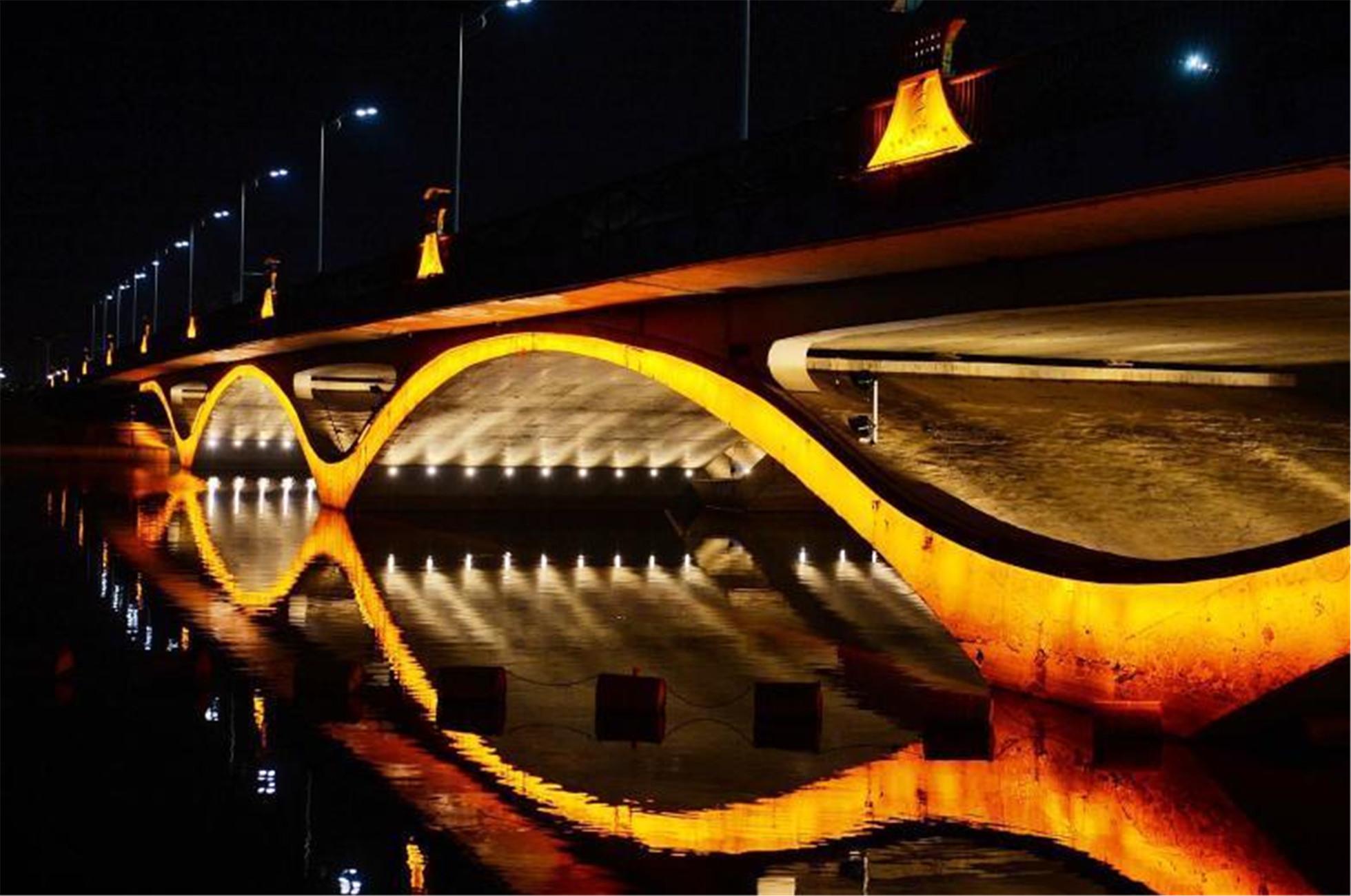 北京大运河水幕灯光秀通州上演