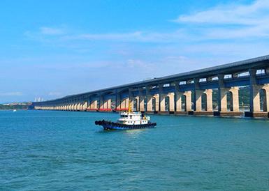 平潭海峡公铁两用大桥公路面试通车
